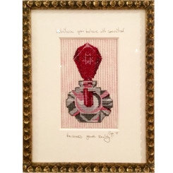 Needlepoint - Ruby Dauber Bottle