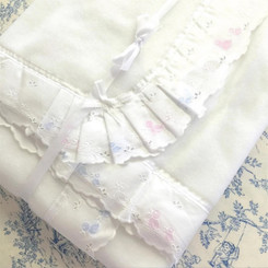 Baby Blanket with Duckling Embroideries