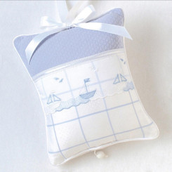 Musical Pillow in Sailboats
