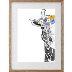 Georgi the Giraffe w/Neutral Flowers