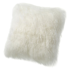 Tibetan Lamb Cushion - Ivory