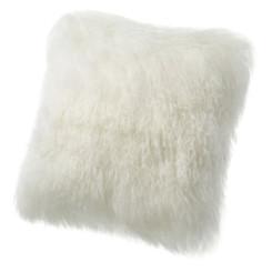 Tibetan Lamb Cushion - Ivory