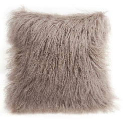 Tibetan Lamb Cushion - Birch
