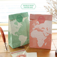 World Map Paper Bag - Candy