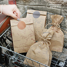 World Map Paper Bag - Craft
