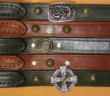 Leads Shown are Examples of Matching Leads, as Each Style Lead will Vary. The Celtic Bullet will have Matching Ornaments: Three at the Handle and Three at the Snap.