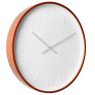 KARLSSON WALL CLOCK MR WHITE Ø 37,5 - white with wooden rim