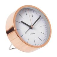 KARLSSON Minimal alarm clock copper case white dial