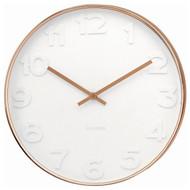 Karlsson Mr White numbers copper rim wall clock - Ø 51 x 7 cm