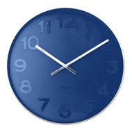 Karlsson Mr Blue numbers steel rim wall clock - Ø 51 x 7 cm