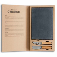 The story of cheese 3 pc serving set, rectangular