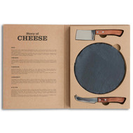 The story of cheese 3 pc serving set, round