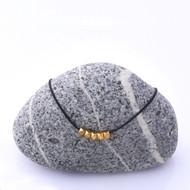 Mon Bijou Necklace Golden Nugget Black