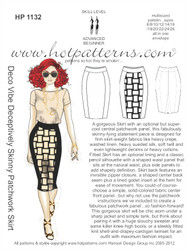 HP 1132 Deco Vibe Deceptively Skinny Patchwork Skirt