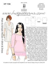 HP 1186 Plain & Simple Woven T-Shirt & Dress