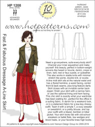 HP 1208 A4 download Fast & Fabulous Dressage A-Line Skirt