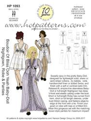 HP 1093 Boudoir Of Bliss Ooh Yeah Baby-Doll Nightgown, Robe & Panties