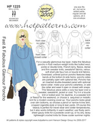 HP 1225 A4 & letter download Fast & Fabulous Glamour Poncho