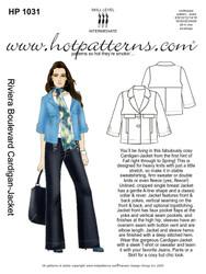 HP 1031 Vintage Riviera Boulevard Cardigan Jacket
