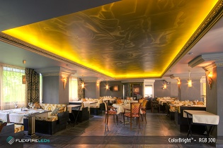 5050 LED chips used in restaurant lighting