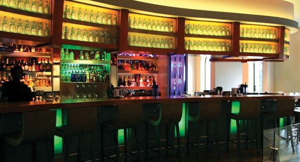 LED strip light color changing for bars and restaurants