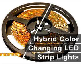 Hybrid LED strip lighting
