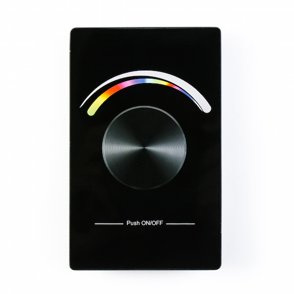rgb wireless wall plate dimmer for strip lights. Black Bedroom Furniture Sets. Home Design Ideas