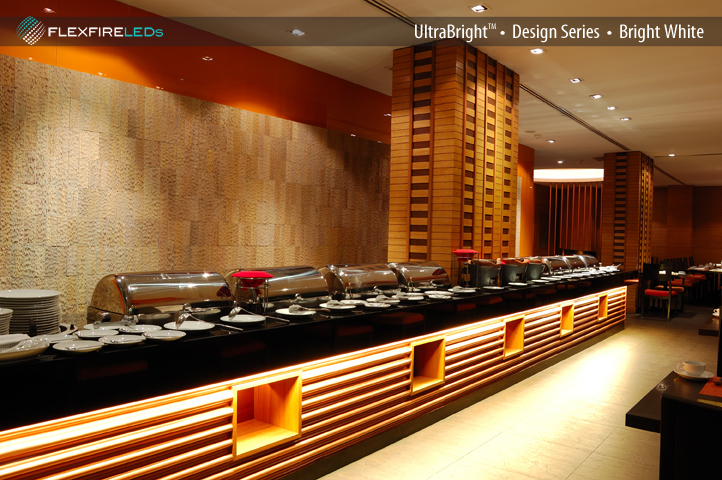 LEDs for restaurants: ultra bright LED strip lighting