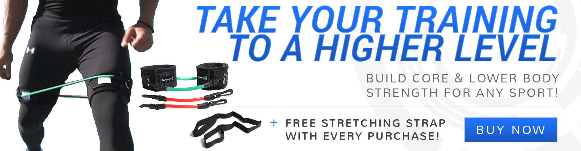 Take your athletic training to a higher level with Myosource Kinetic Bands. Get a free stretching strap with every purchase!