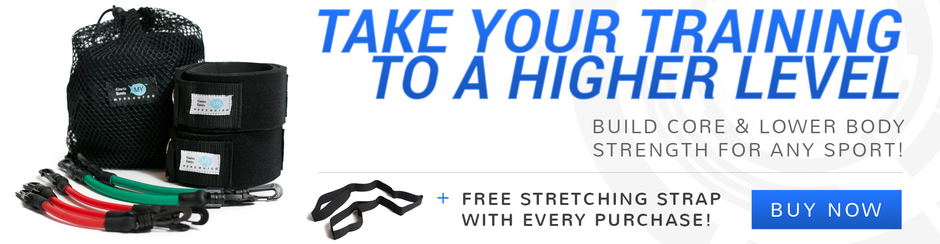 Build core and lower body strength for any sport with Kinetic Bands. Free stretching strap with every purchase! Take your training to a higher level with our resistance band training. 30-day money back guarantee.