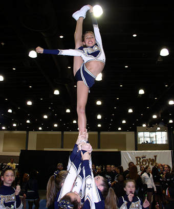 Bow and Arrow - Cheerleading Stunt