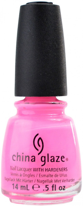 China Glaze Shocking Pink (Neon) nail polish