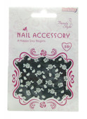 Berkeley Silver Gem &amp; Roses Nail Decal