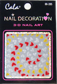 Cala Spiral Hearts 3D Nail Decal