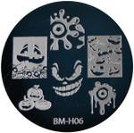 Bundle Monster Image Plate BM-H06: Pumpkin, Ghost, Full Nail, Halloween (Ships Free, No Min)