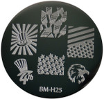Bundle Monster Image Plate BM-H25: Usa, Animal, 4Th Of July, Full Nail (Ships Free, No Min)