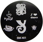 Bundle Monster Image Plate #BM-401: Octopus, Bird, Bee, Words