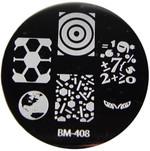 Bundle Monster Image Plate #BM-408: Globe, Eyes, Math, Full Nail