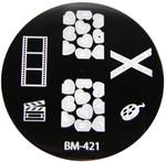 Bundle Monster Image Plate #BM-421: Film, Caution, Full Nail, Hearts