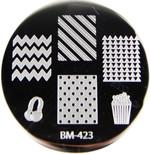 Bundle Monster Image Plate #BM-423: Popcorn, Headset, Full Nail