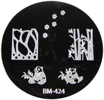 Bundle Monster Image Plate #BM-424: Pandas, Bamboo, Full Nail, Paws