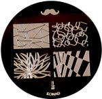 Konad Nail Art Image Plate #M98 (Full Nail, Moustache, Flower Burst, Chess Design)