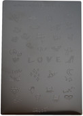 Konad Nail Art Square Image Plate #03: Words, Love, Peace, Diamond, Sunglasses etc