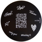 Konad Nail Art Image Plate #M104 (Words, Love, Valentines)