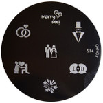 Konad Nail Art Image Plate #S14 (Love, Marriage, Rings, Wedding)