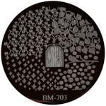 Bundle Monster Image Plate #BM-703: Full Nail, Plants, Door