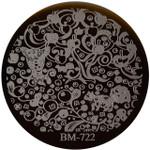 Bundle Monster Image Plate #BM-722: Full Nail, Apples, Berries, Nuts, Squirrel
