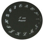 Image Plate #M46 (Words ) by Konad Nail Stamping