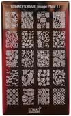 Konad Nail Art Square Image Plate #11: Flowers, Leaves, etc