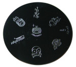 Image Plate #M13 (Halloween, Skull, Pumpkin, People) by Konad Nail Art